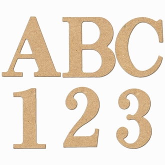 5 letters numbers symbols classic style mdf
